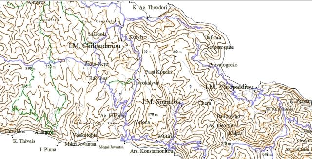Athos online map