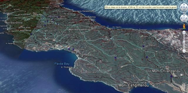 Google maps Athos