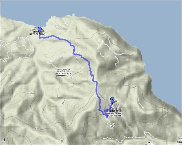 map 3 Bogoroditsa - Vatopedi 1