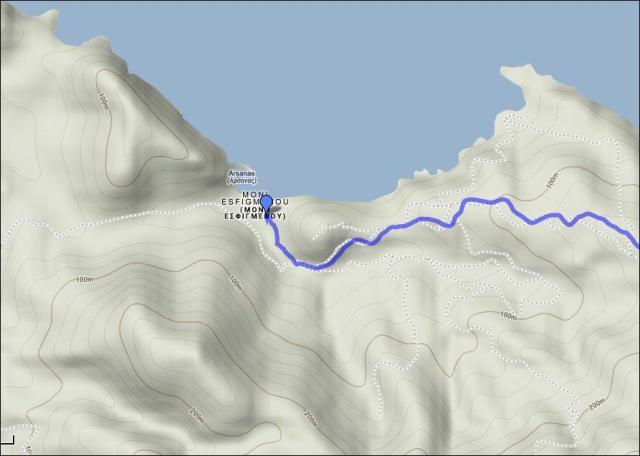 map 4 Vatopedi - Esfigmenou 4