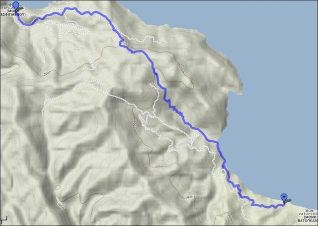 map 4 Vatopedi - Esfigmenou
