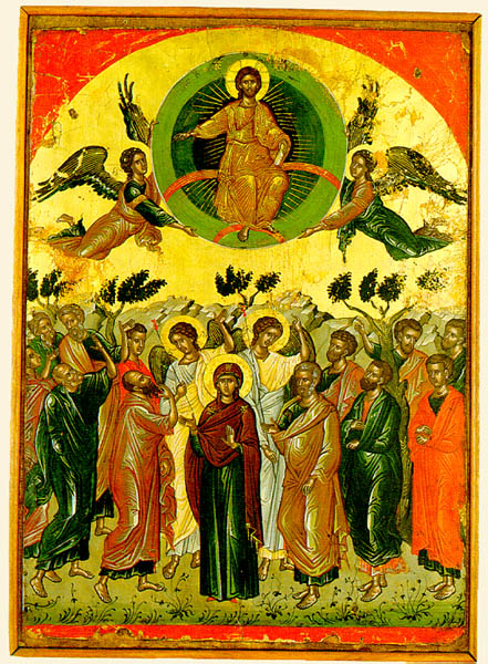 THEOPHANES the Cretan.  The Ascension1546  Egg tempera on wood