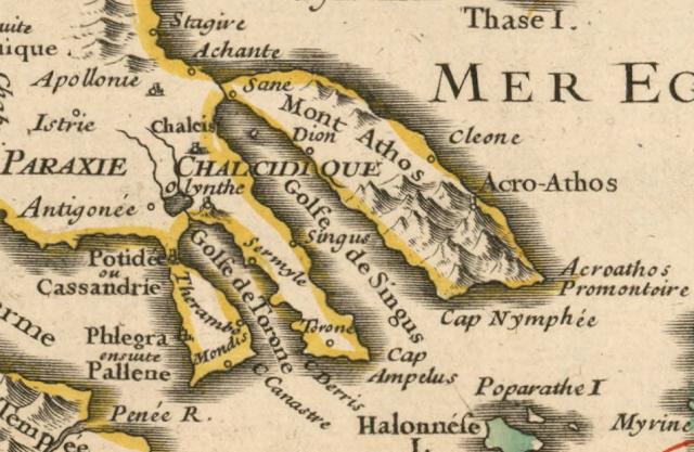 Carte de Thrace pour servir à l'intelligence de l'histoire romaine : par Henri Liébaux, 1727 géographe