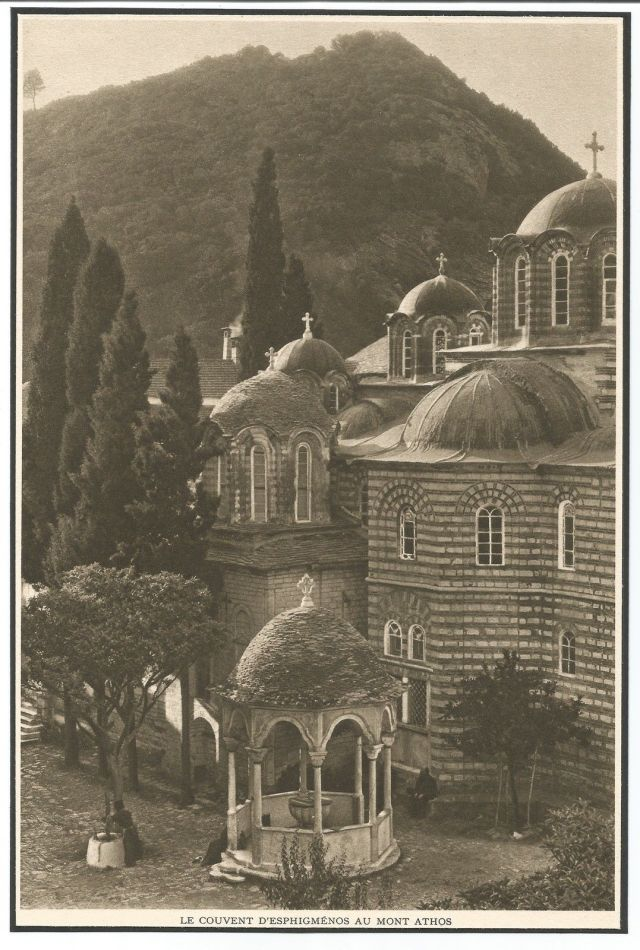 Esphigménos au Mont Athos années 1920