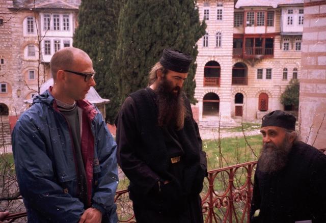 024 Athos - Chilandariou - de bibliotheek monnik