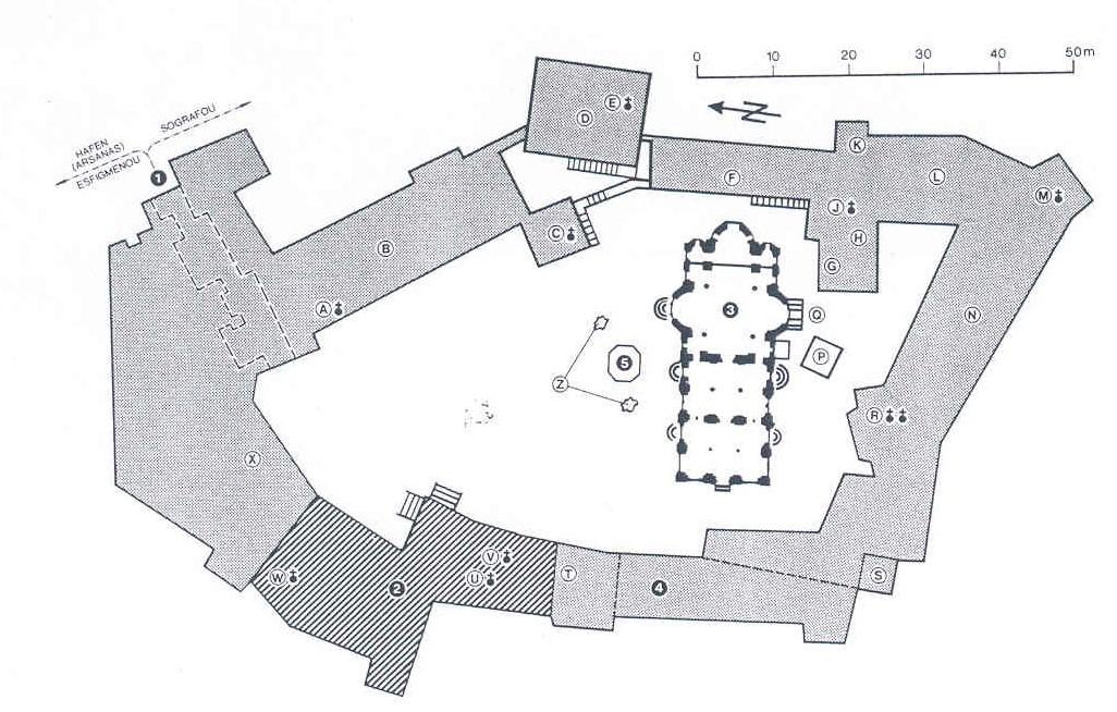Chilandariou plattegrond