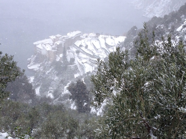 dionysiou in the snow