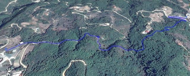 Filotheou Karakalou hike