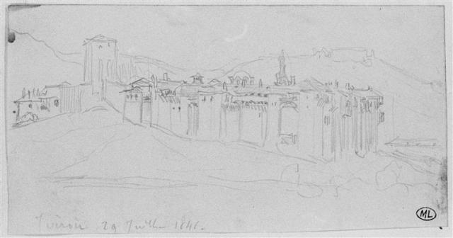 Mont Athos, le monastère d'Iviron 1849