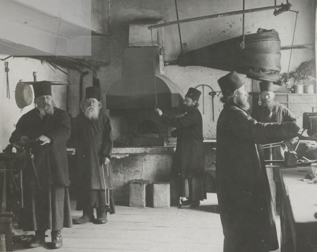 1917-18 french photo album aviateur Panteleimonos monks blacksmiths12b