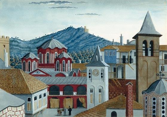 art Osbert Lancaster Vatopedi 1944-1946