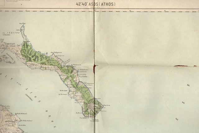 map Athos 1909
