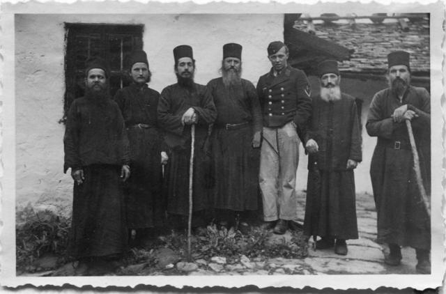Wehrmacht Gruppenfoto Mönchen Berg Athos Griechenland3