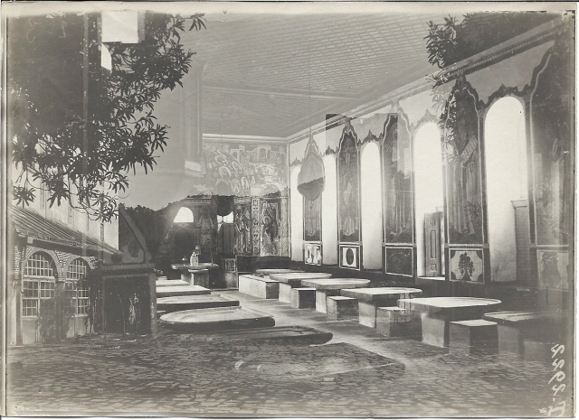 Vatopediou refectory old postcard