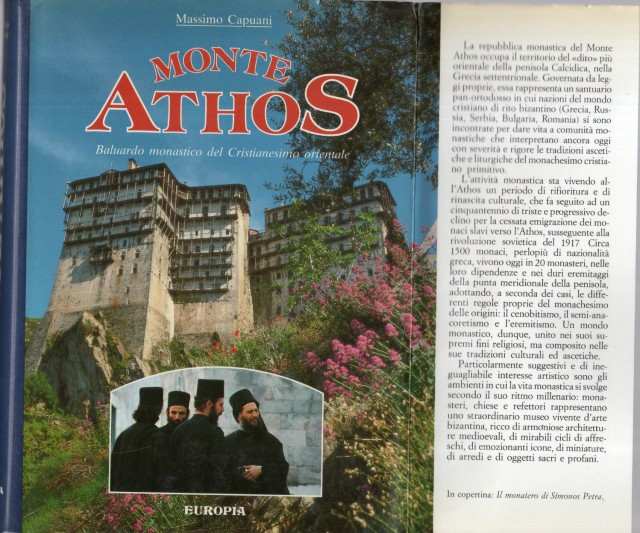 monte athos - baluardo monastico del cristianesimo orientale - massimo capuani 1988