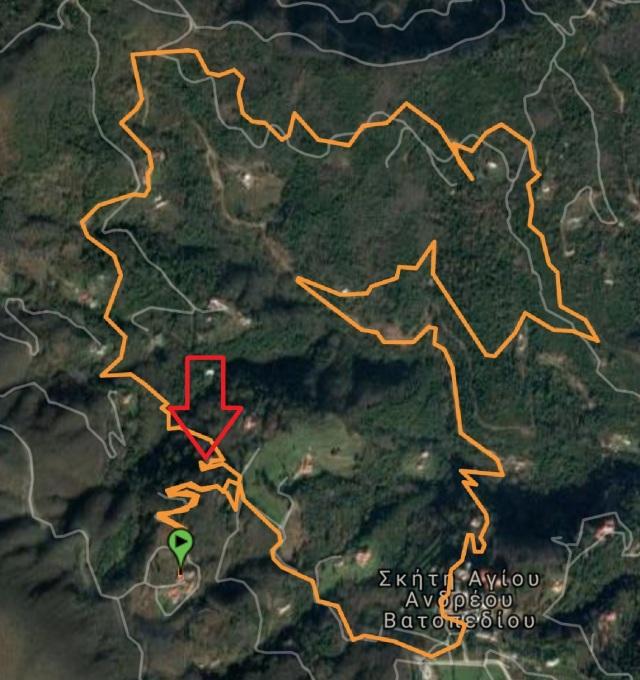 wikiloc 4 Marouda - Kapsala 9,34 km pijl